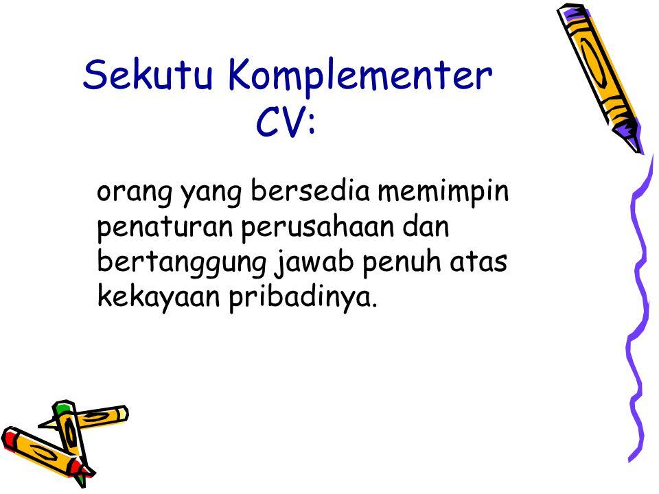 Sekutu Komplementer CV:
