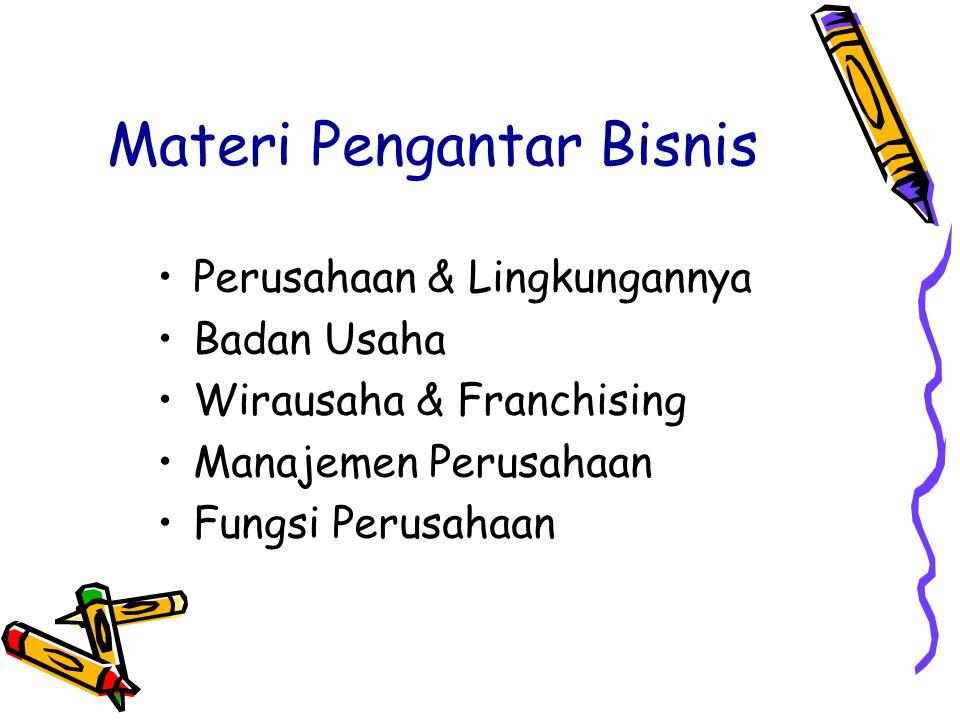 Materi Pengantar Bisnis