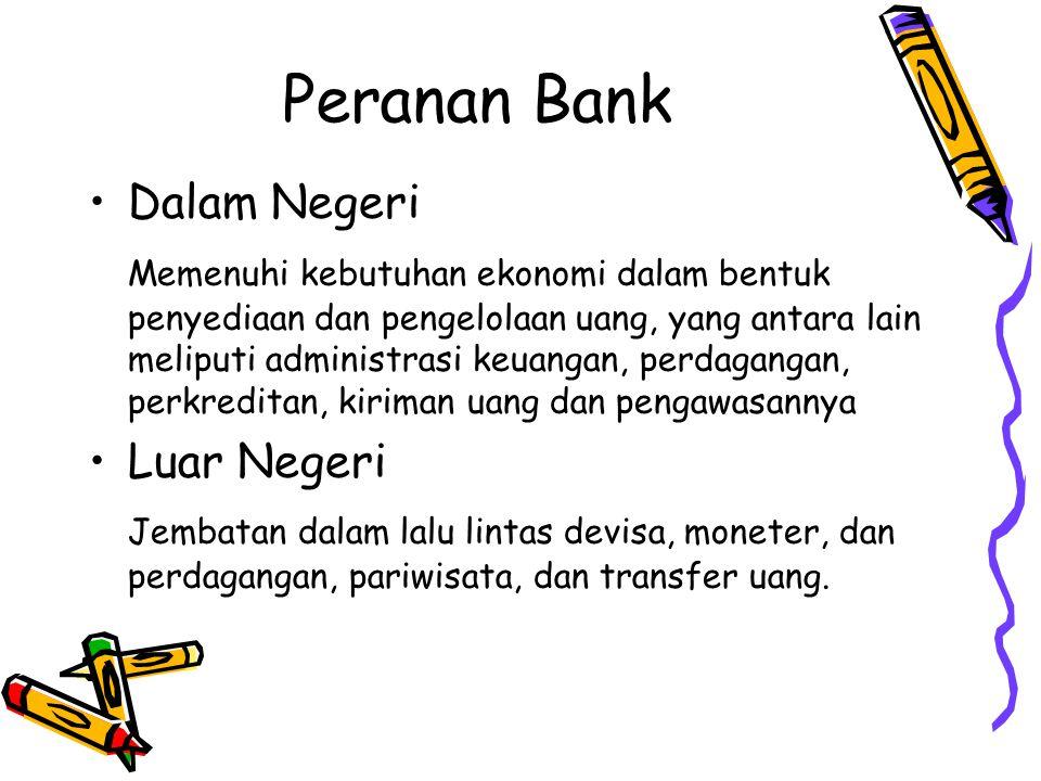 Peranan Bank Dalam Negeri