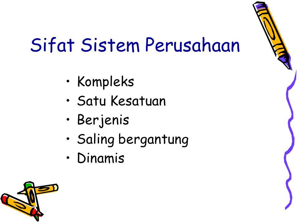 Sifat Sistem Perusahaan