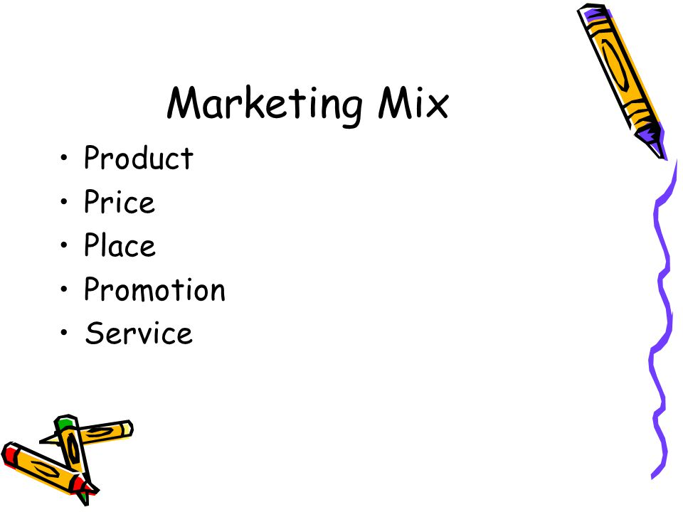 Marketing Mix Product Price Place Promotion Service