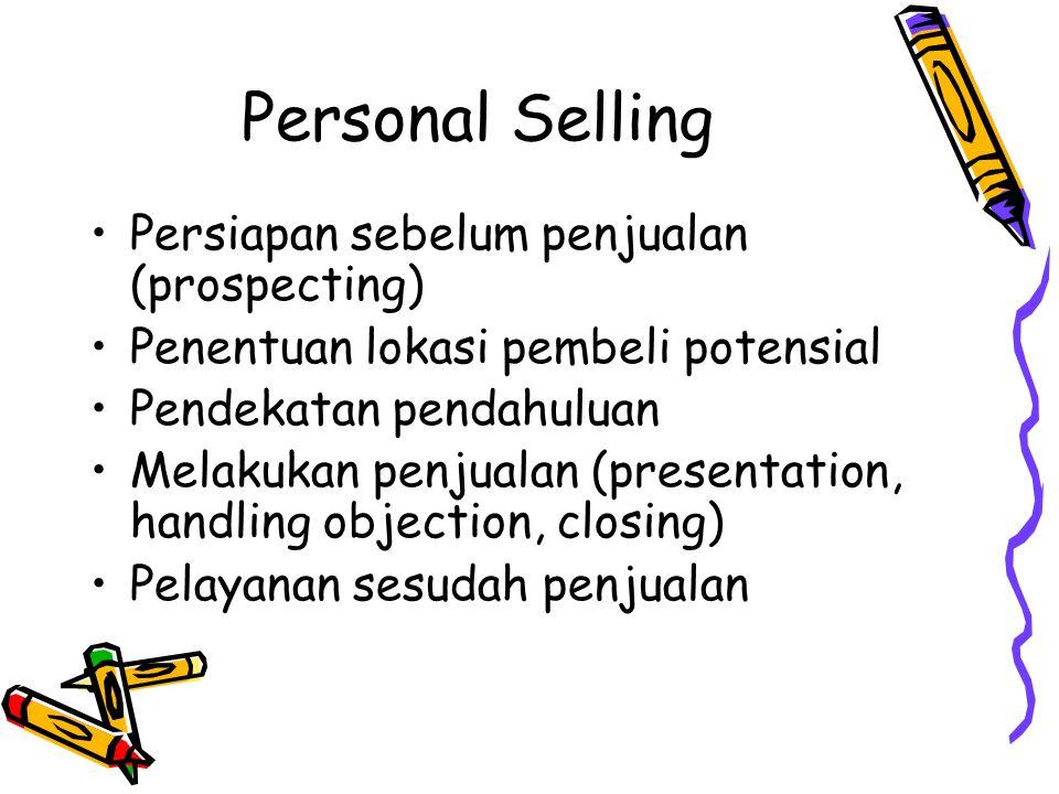 Personal Selling Persiapan sebelum penjualan (prospecting)