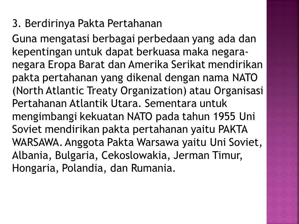 3. Berdirinya Pakta Pertahanan