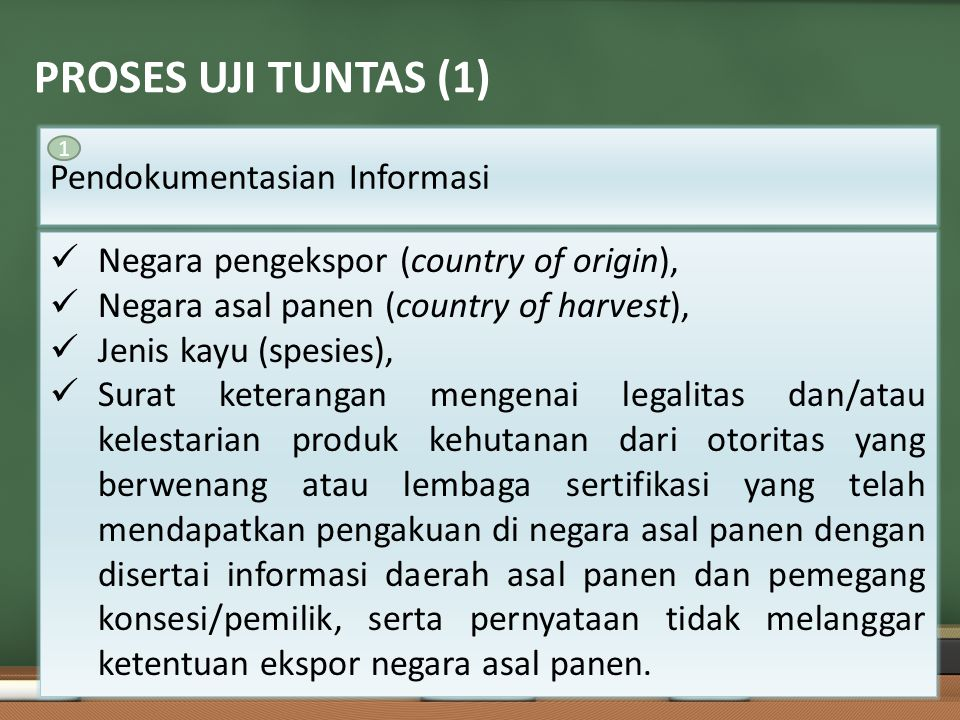 PROSES UJI TUNTAS (1) Pendokumentasian Informasi