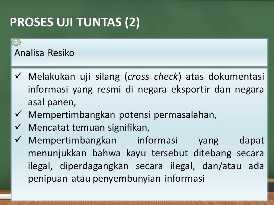 PROSES UJI TUNTAS (2) Analisa Resiko