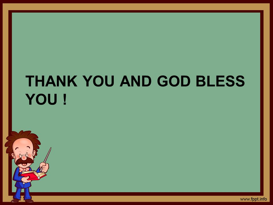 ThANK You and God Bless you !