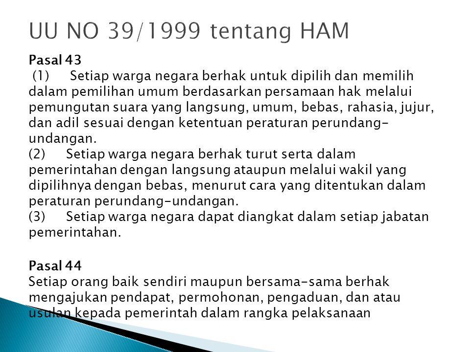 UU NO 39/1999 tentang HAM