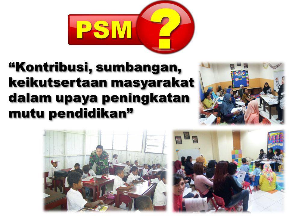 PSM Kontribusi, sumbangan, keikutsertaan masyarakat