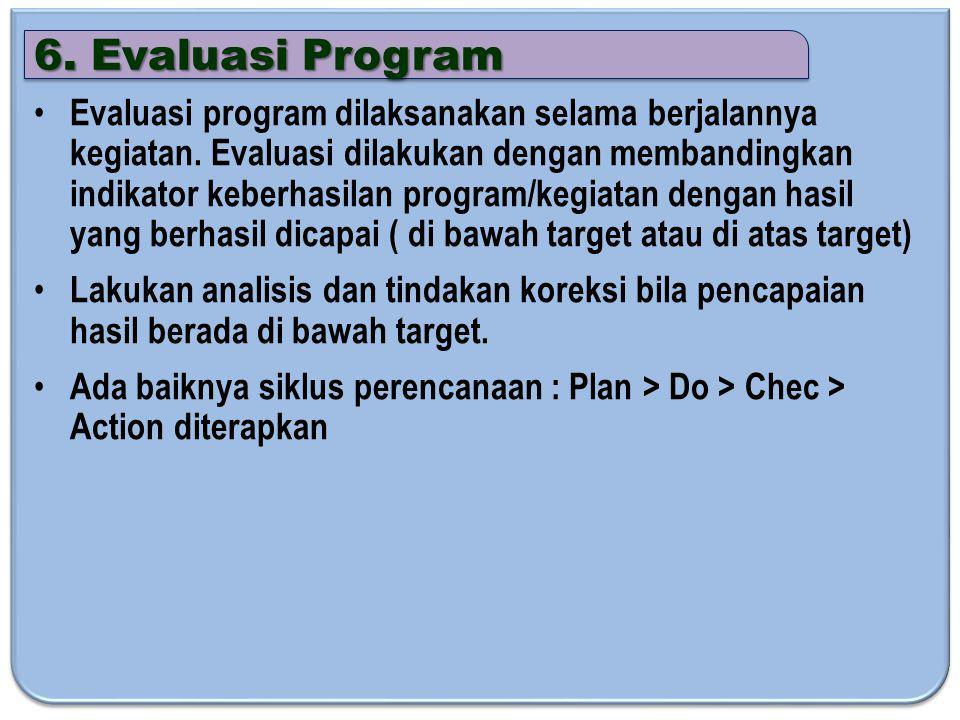 6. Evaluasi Program