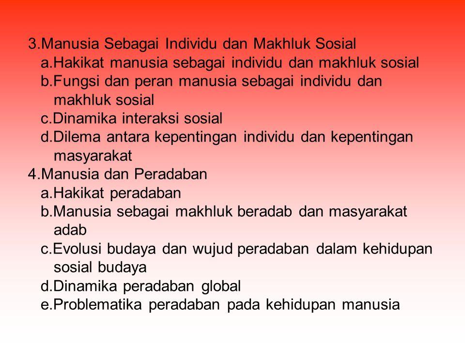3.Manusia Sebagai Individu dan Makhluk Sosial