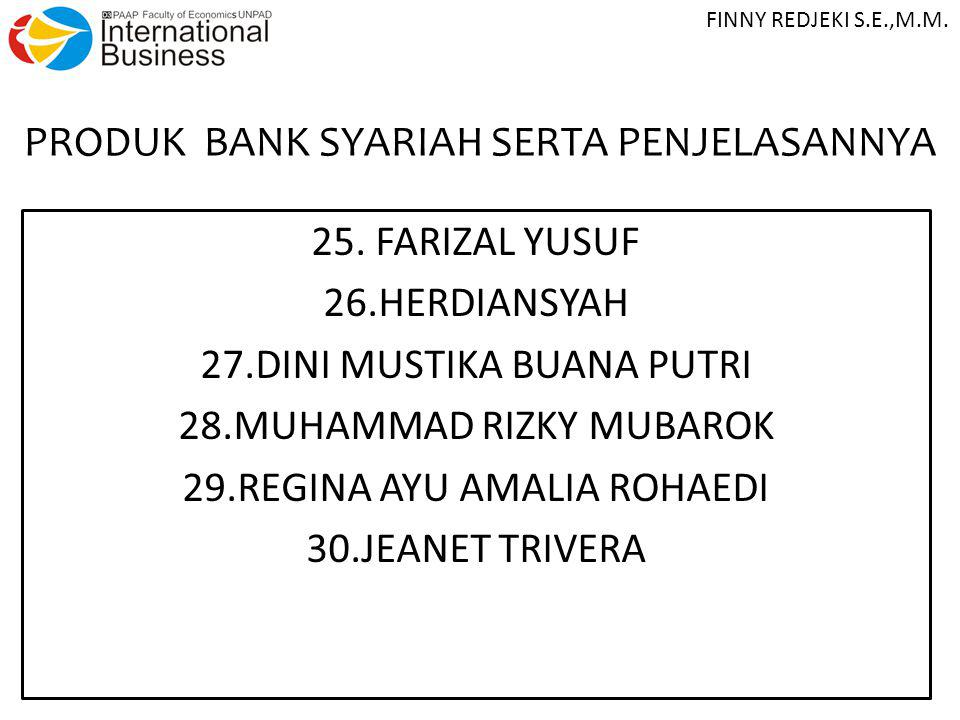 PRODUK BANK SYARIAH SERTA PENJELASANNYA