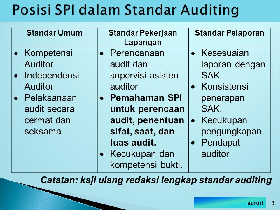 Posisi SPI dalam Standar Auditing