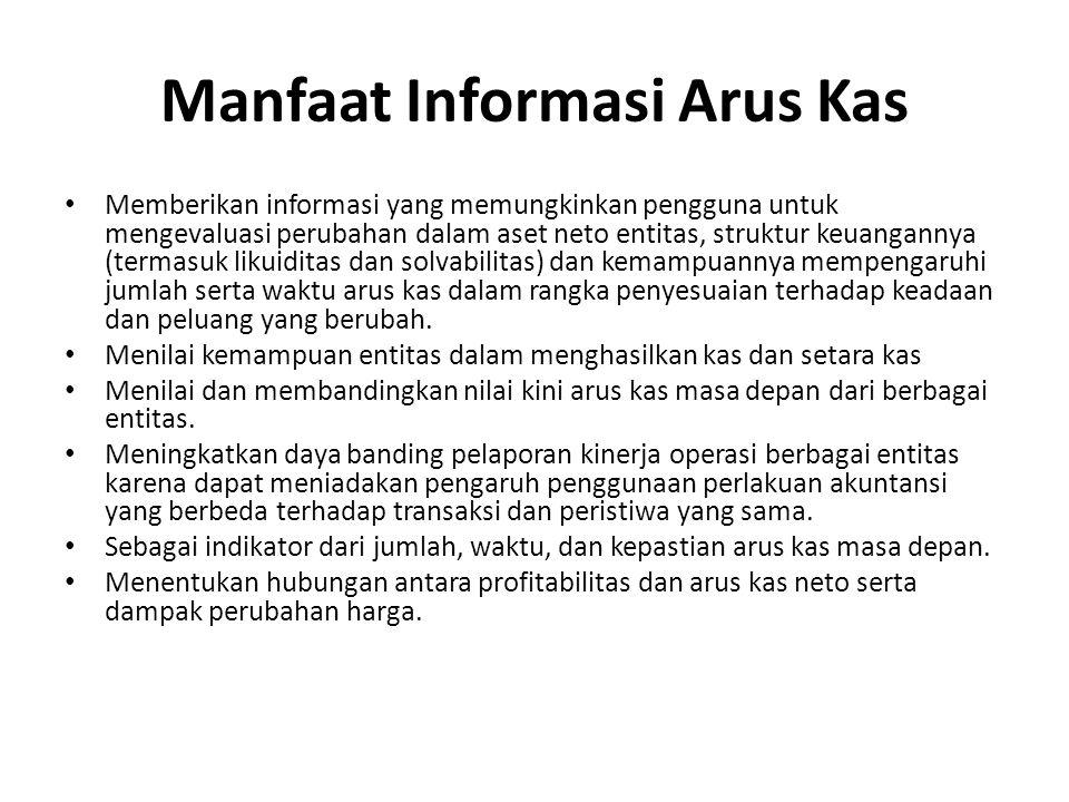 Manfaat Informasi Arus Kas