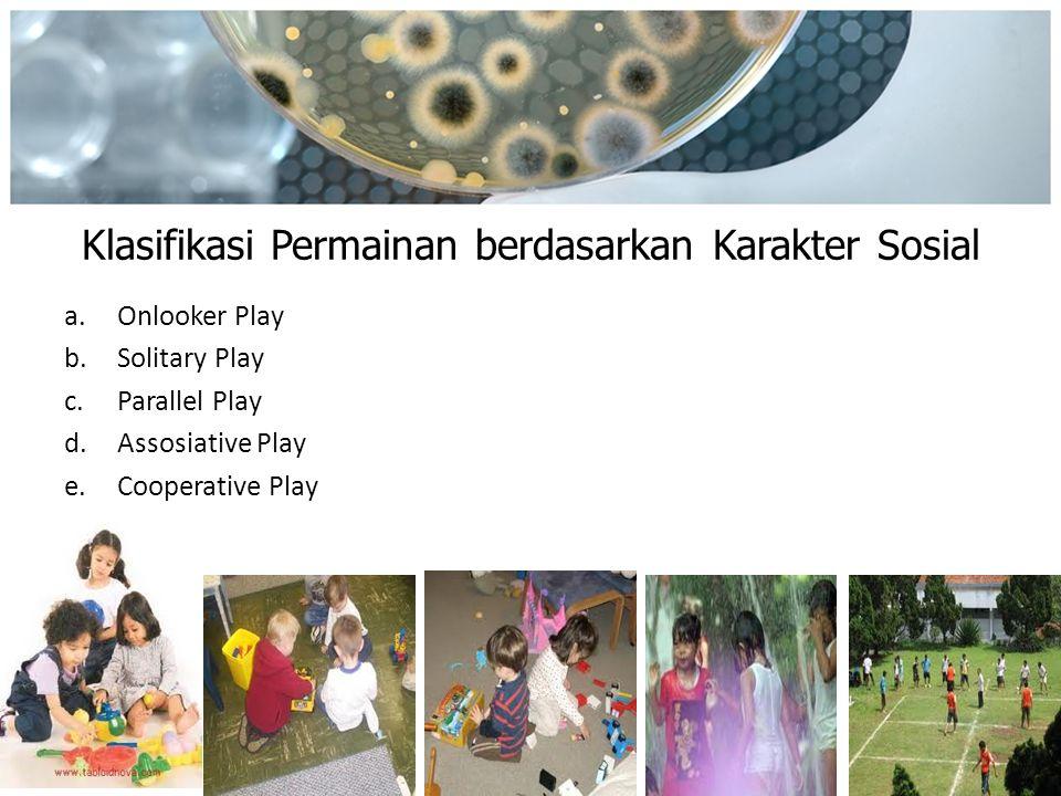Klasifikasi Permainan berdasarkan Karakter Sosial