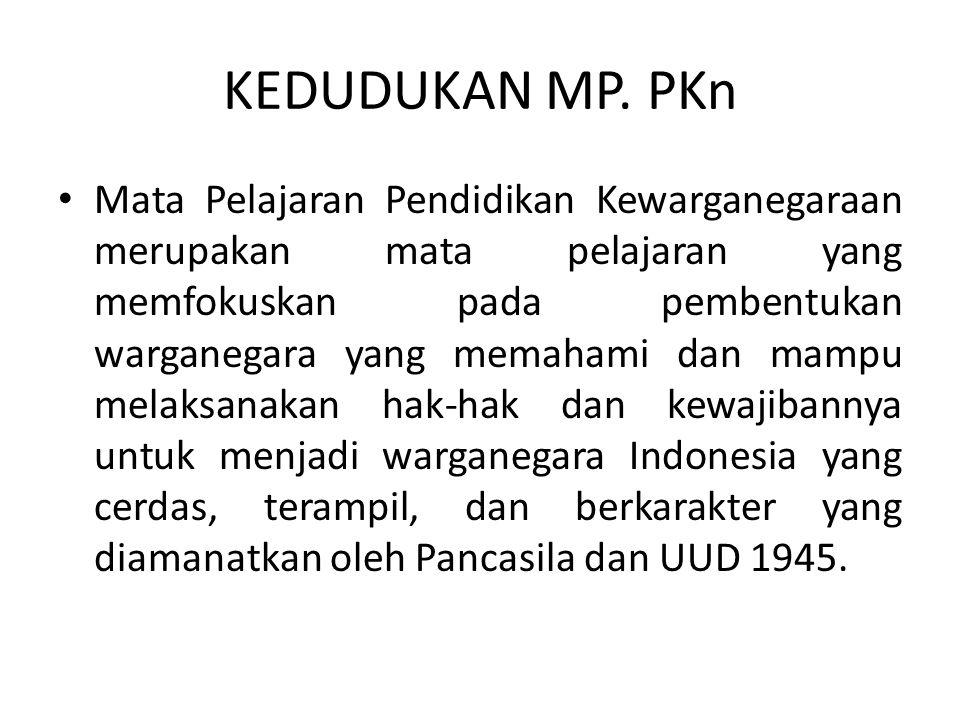 KEDUDUKAN MP. PKn