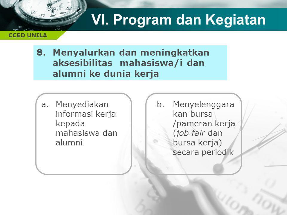 VI. Program dan Kegiatan
