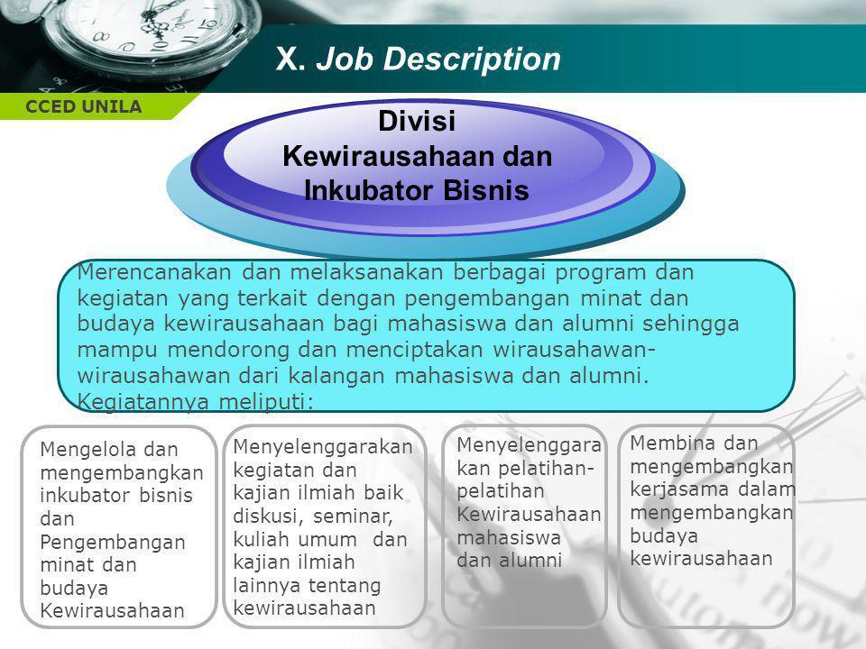 Divisi Kewirausahaan dan Inkubator Bisnis