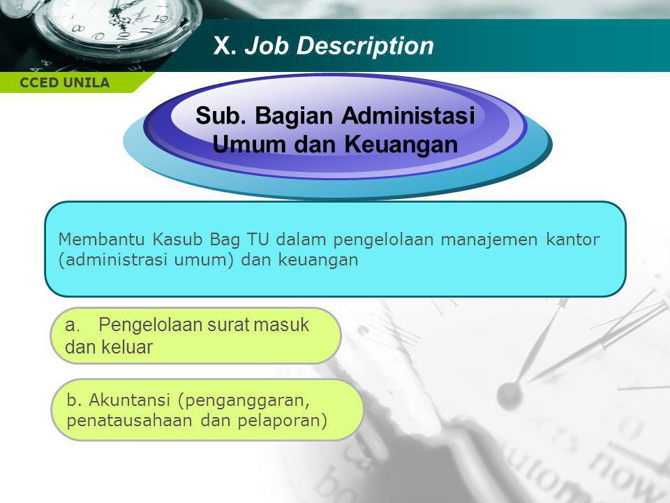 Sub. Bagian Administasi Umum dan Keuangan