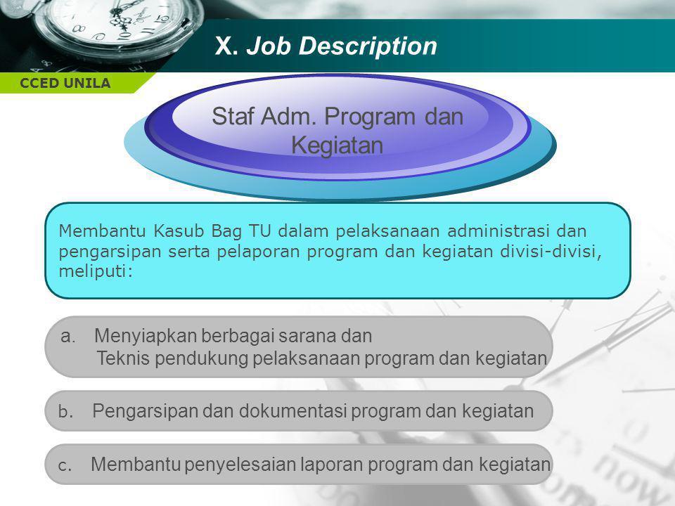 Staf Adm. Program dan Kegiatan