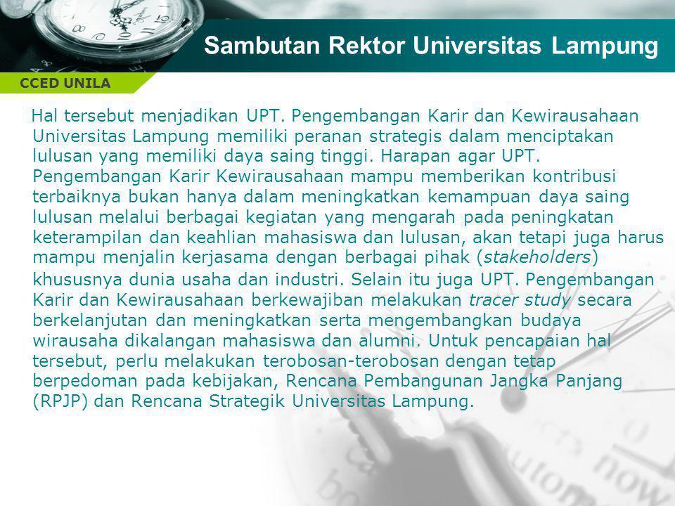 Sambutan Rektor Universitas Lampung