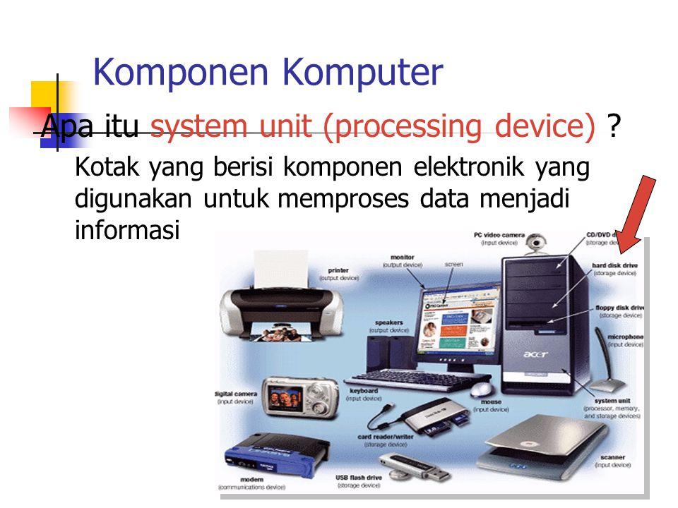 Komponen Komputer Apa itu system unit (processing device)