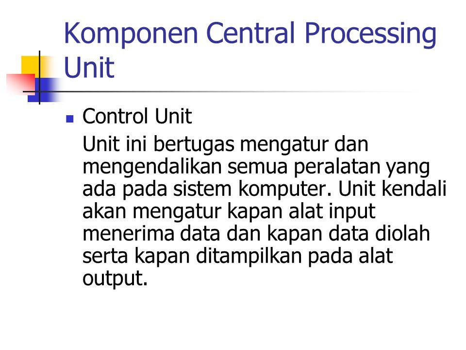 Komponen Central Processing Unit