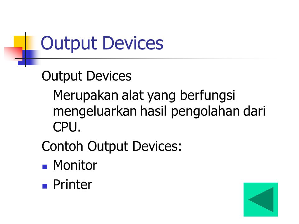 Output Devices Output Devices