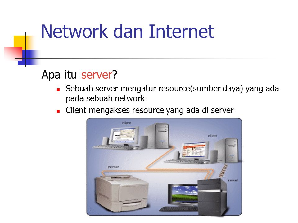 Network dan Internet Apa itu server