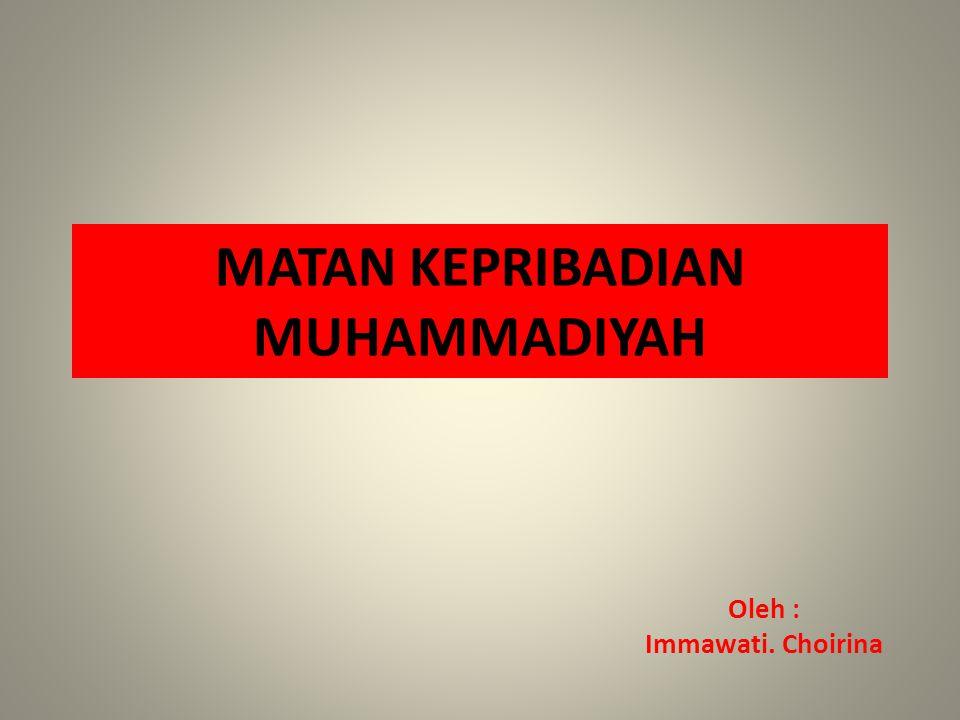 MATAN KEPRIBADIAN MUHAMMADIYAH