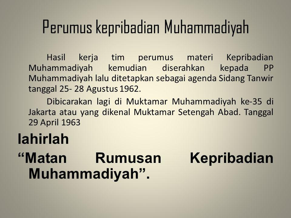 Perumus kepribadian Muhammadiyah