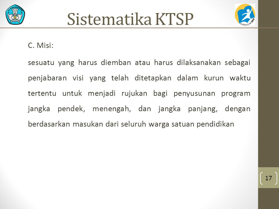 Sistematika KTSP