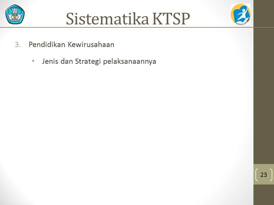 Sistematika KTSP Pendidikan Kewirusahaan