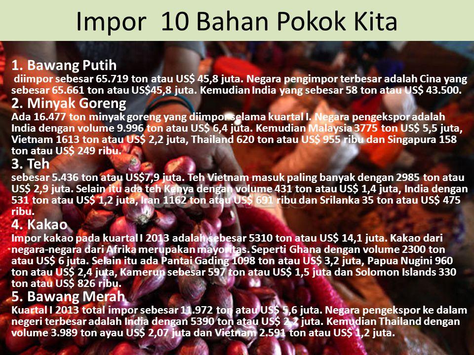 Impor 10 Bahan Pokok Kita