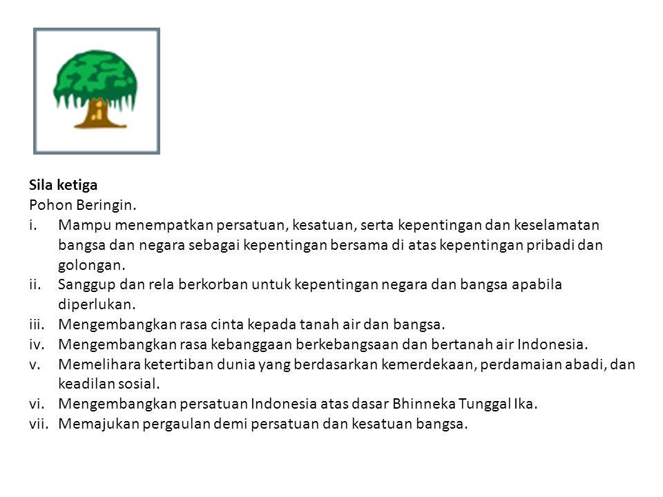 Sila ketiga Pohon Beringin.