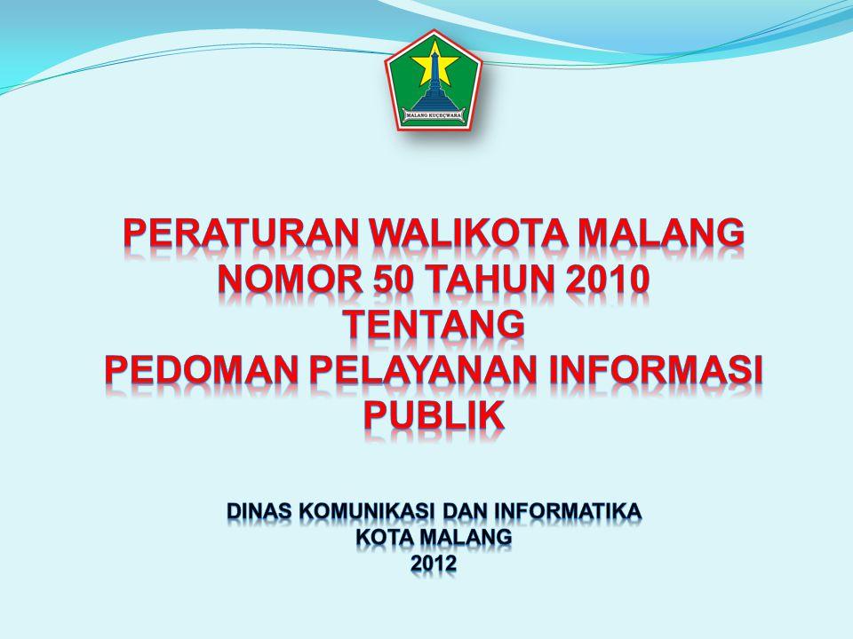 Peraturan Walikota Malang Nomor 50 Tahun 2010 tentang