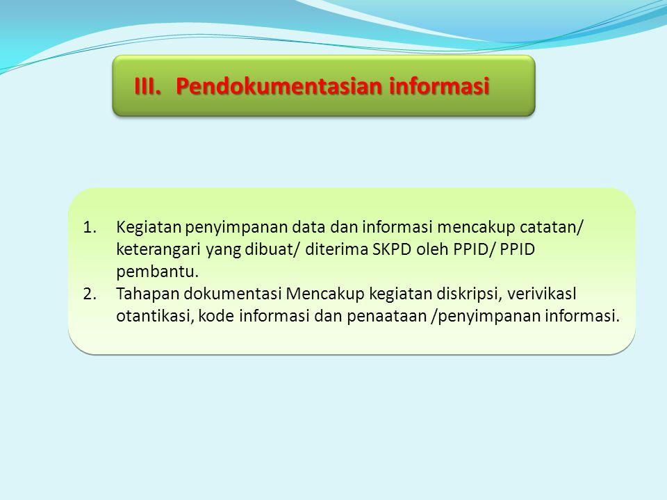 Pendokumentasian informasi
