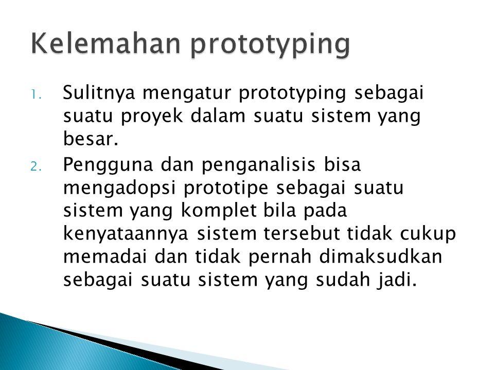 Kelemahan prototyping