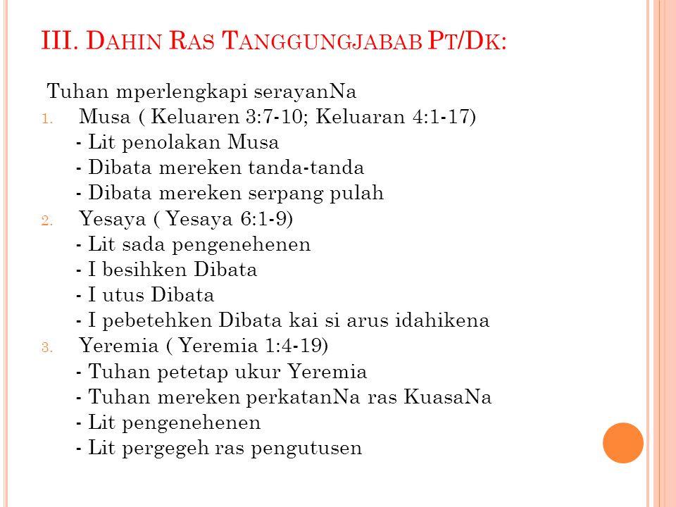 III. Dahin Ras Tanggungjabab Pt/Dk: