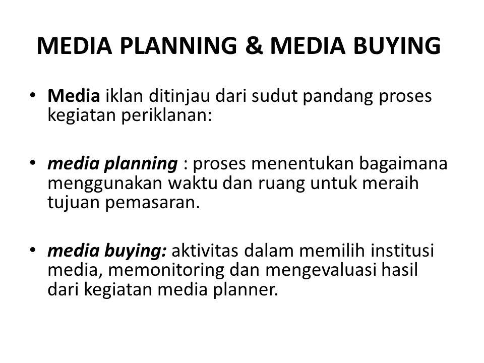 MEDIA PLANNING & MEDIA BUYING