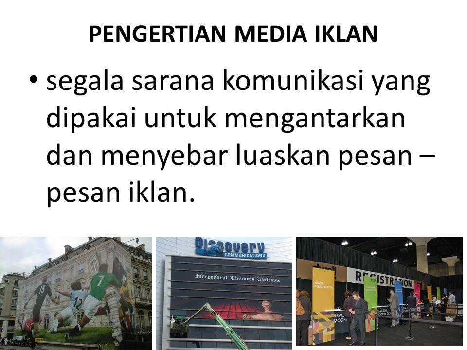 PENGERTIAN MEDIA IKLAN