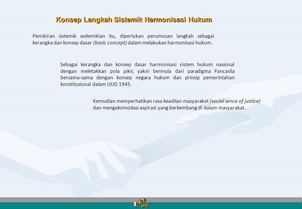 KGS con s Konsep Langkah Sistemik Harmonisasi Hukum