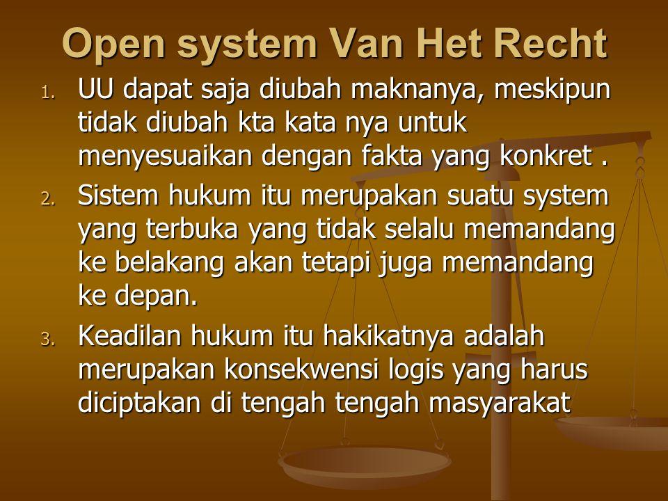 Open system Van Het Recht