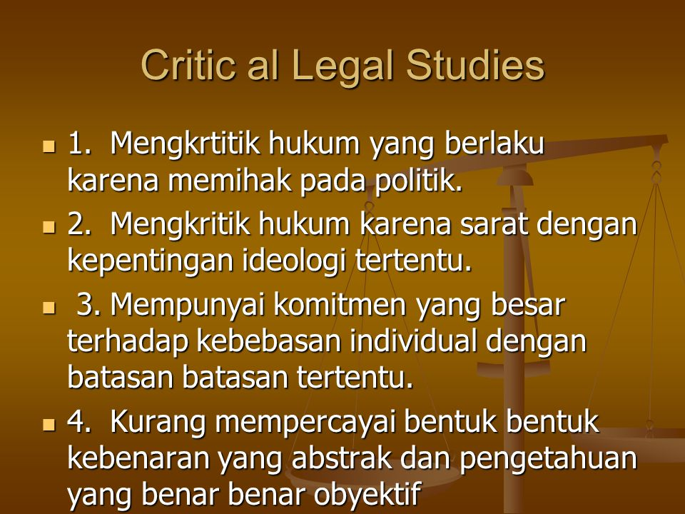 Critic al Legal Studies