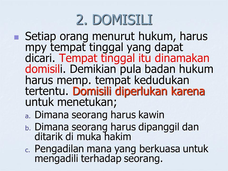 2. DOMISILI