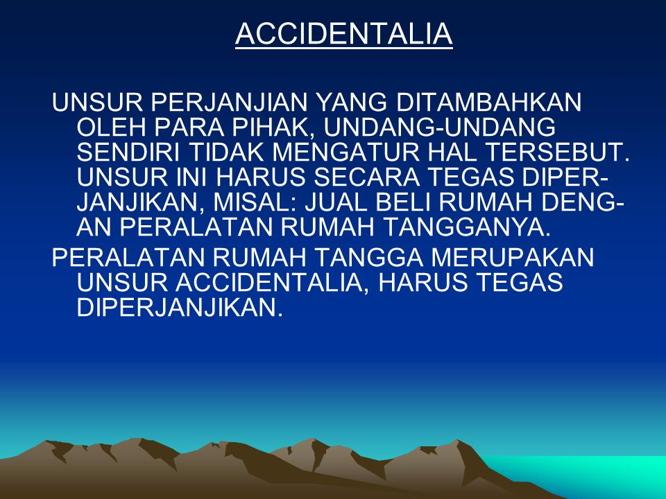 ACCIDENTALIA