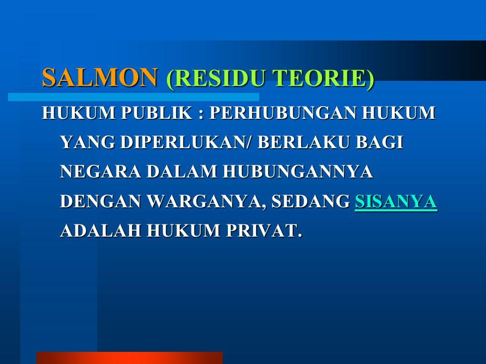 SALMON (RESIDU TEORIE)