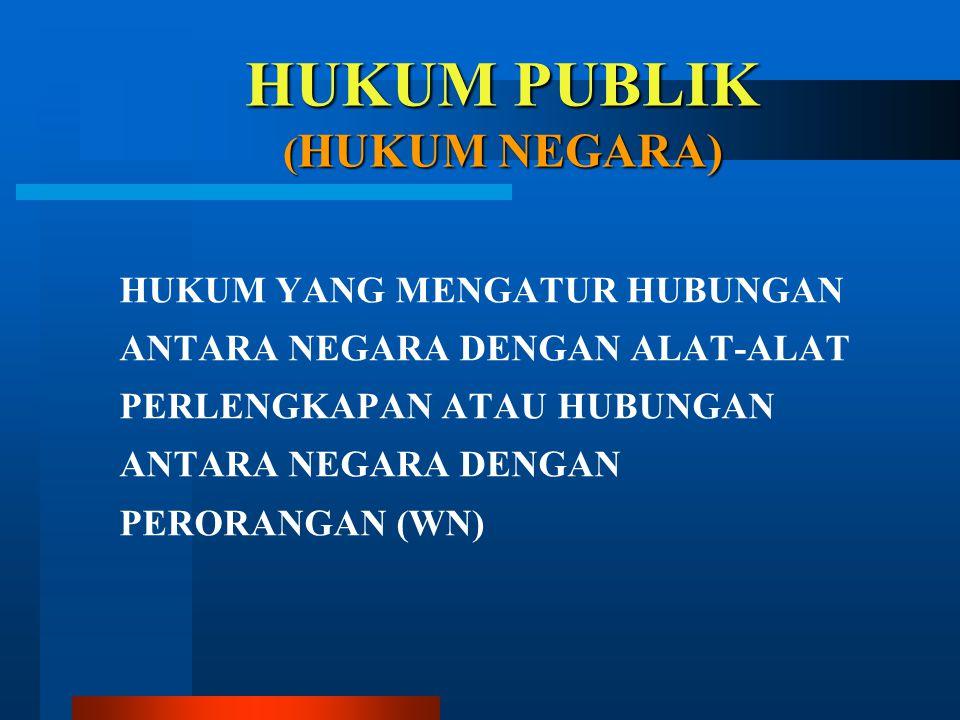 HUKUM PUBLIK (HUKUM NEGARA)