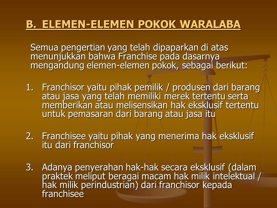 B. ELEMEN-ELEMEN POKOK WARALABA