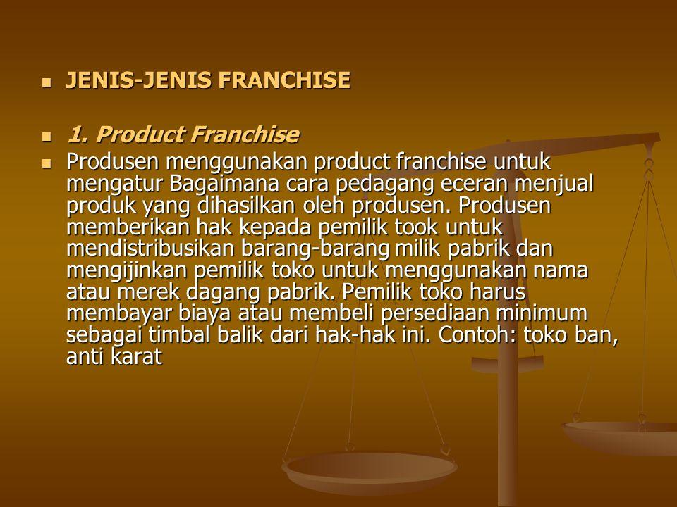 JENIS-JENIS FRANCHISE