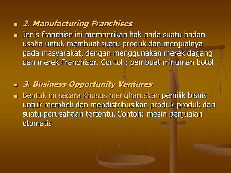 2. Manufacturing Franchises